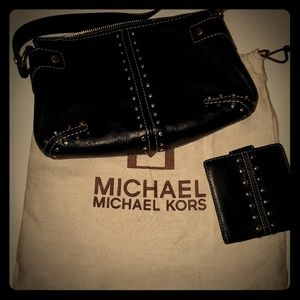 Vintage Michael Kors small studded bag with wallet
